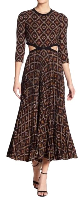 Item - Burgundy Cream Holly Cut-out Silk Blend Long Casual Maxi Dress Size 6 (S)