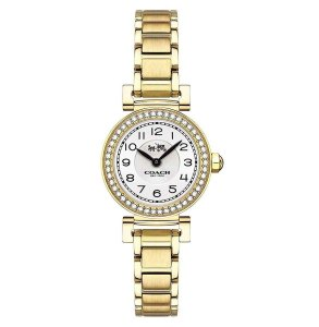 Coach Coach Women's Madison Gold-Tone Bracelet Watch 23mm