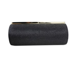 Jimmy Choo Glitter Black Clutch