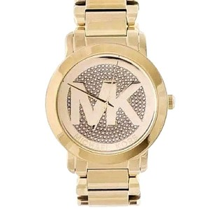 Michael Kors Michael Kors MK3462 Runway MK Logo Glitz Gold Tone Steel Watch 45mm