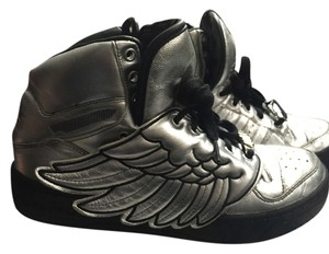 adidas Winged Sneakers Classic Jeremy Scott Js Limited Silver Metallic Athletic