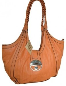 Texas Leather Manufacturing With Black Edging White Stitching Shoulder Bag
