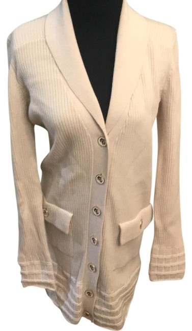 Item - Cream Wool Button Down Cardigan Size 12 (L)