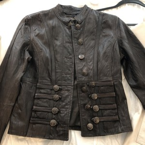 My Tribe Dark Brown Leather Jacket