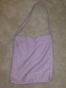 Old Navy Tote in Pink/brown Houndstooth