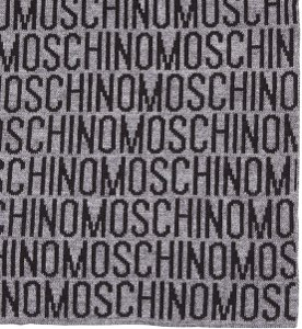 Moschino Text Scarf