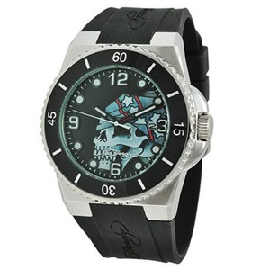 Ed Hardy FU-SK Sport Men s Black Silicon Band With Black Analog Dial Watch 7b35382099