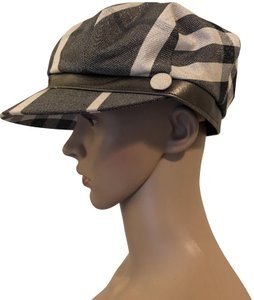 Burberry Burberry Metallic Gray Newsboy Hat Size Medium
