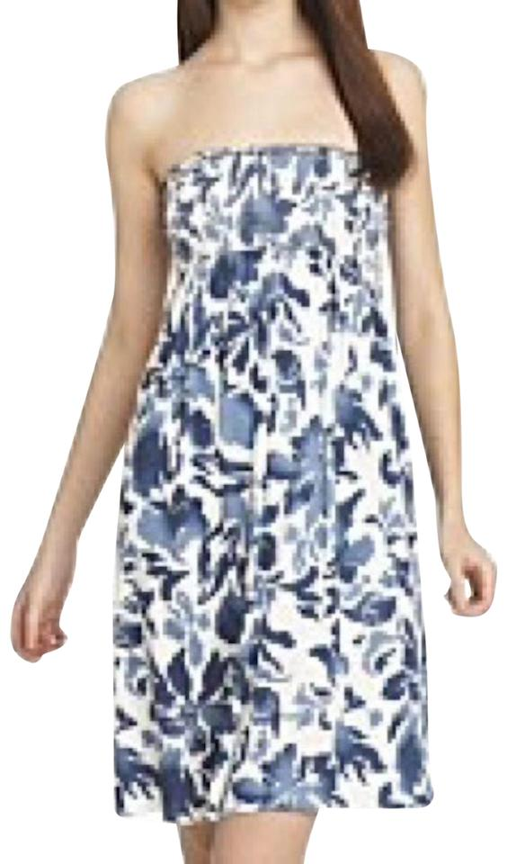 3f3f64b0082 Juicy Couture Blue White Floral Strapless Short Casual Dress Size 6 ...