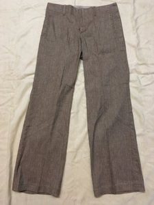 Peruvian Connection Classic Linen Summer Spring Trouser Pants Caramel