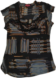 one.september Tunic Top black blue and gold