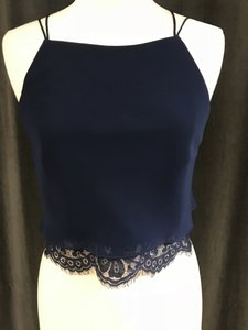 Theia Top Navy/navy lace