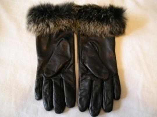 Alexandra Bartlett Fur Cuff Leather Gloves