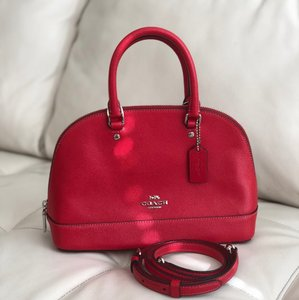 Coach Satchel in Bright Red