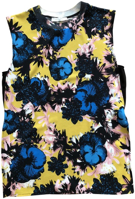 Item - Black/Pink/Yellow/White Classic Floral Tank Top/Cami Size 8 (M)