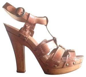 Frye Cognac Leather Sandals