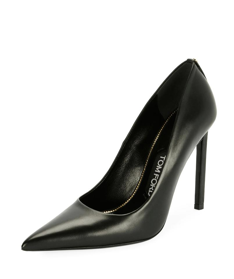 f02be4db38 Tom Ford Black Pointed-toe 120mm Leather Pumps Size EU 35 (Approx ...