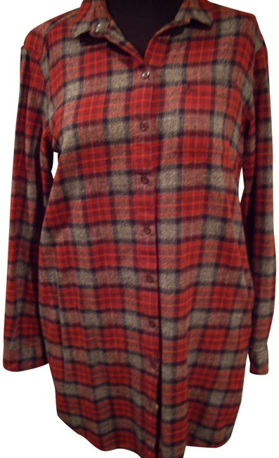 Item - Red Plaid Maggie Checked Shirt Dress/Jack Button-down Top Size 8 (M)