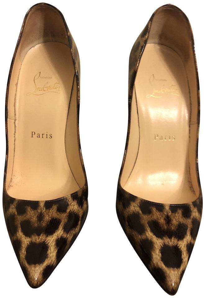 55008f16b17f Christian Louboutin Leopard So Kate 120 Patent Leopardino Pumps Size ...
