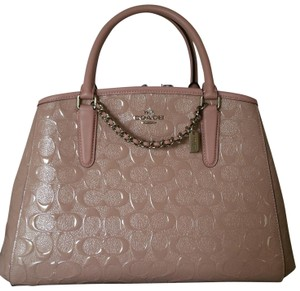 Coach Satchel in Silver / Blush (Pink)