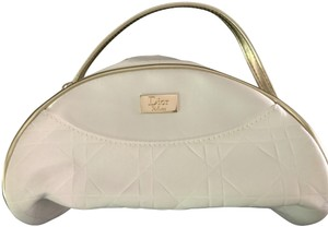 Dior Pretty White Cosmetic Bag with Gold Trim