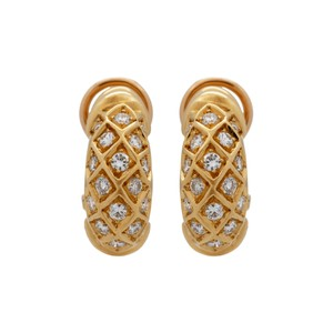 Cartier Cartier 18K Yellow Gold Classic Diamond Earrings
