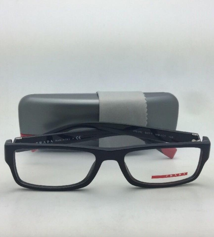 e0832923a89d Prada New PRADA Eyeglasses VPS 03C 1AB-1O1 54-17 140 Rectangular Black  .  123456789101112