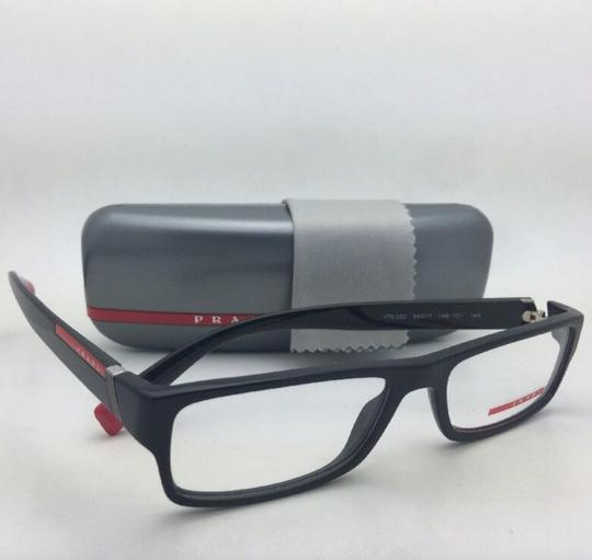 90896135084a Prada New Eyeglasses Vps 03c 1ab-1o1 54-17 140 Rectangular Black and ...