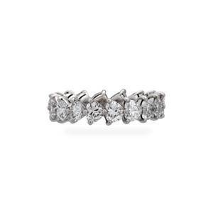 Graff Graff Platinum Diamond Heart Shaped Ring Size: 6