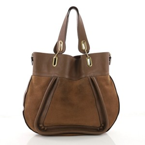 Chloé Suede Leather Tote in Brown