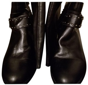 JustFab Faux Leather Studded ** BLACK Boots