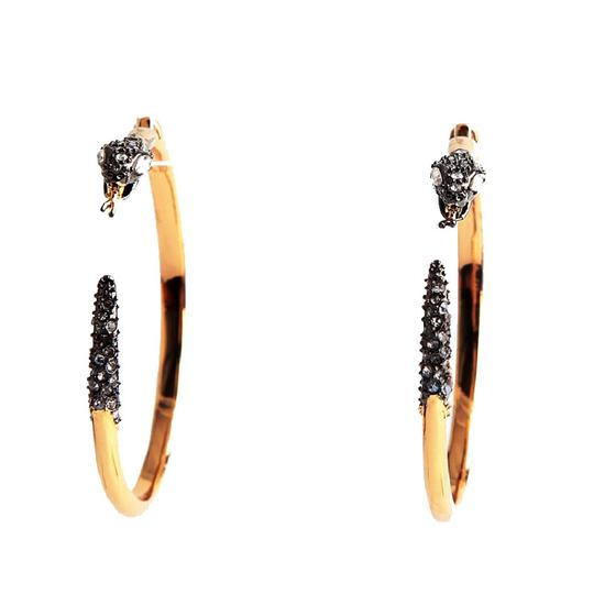 Alexis Bittar BRAND NEW Alexis Bittar Two Part Snake Hoop Earrings Crystal Pave Image 1