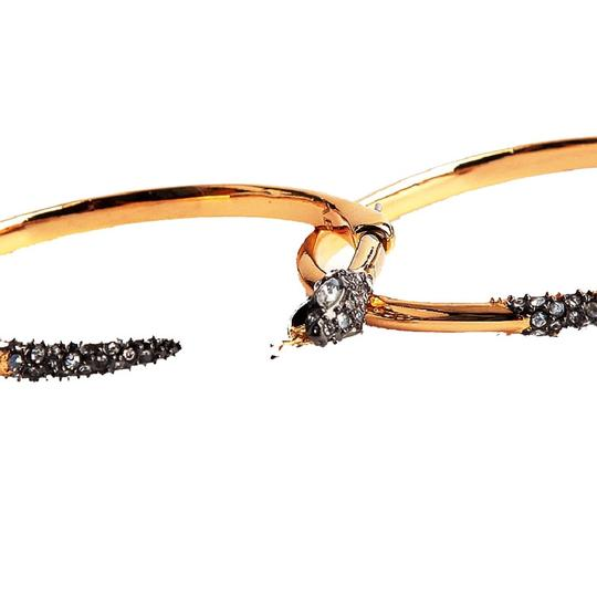 Alexis Bittar BRAND NEW Alexis Bittar Two Part Snake Hoop Earrings Crystal Pave Image 2