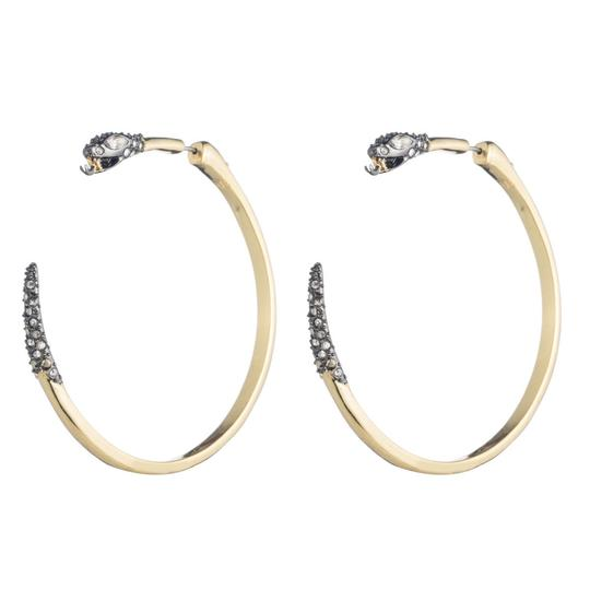 Alexis Bittar BRAND NEW Alexis Bittar Two Part Snake Hoop Earrings Crystal Pave Image 3