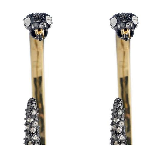Alexis Bittar BRAND NEW Alexis Bittar Two Part Snake Hoop Earrings Crystal Pave Image 4