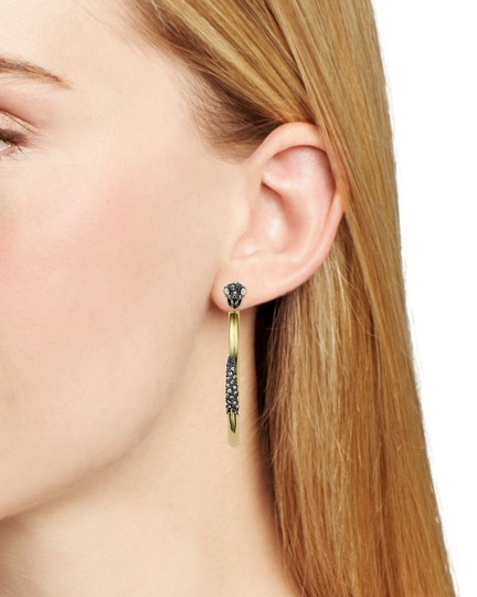 Alexis Bittar BRAND NEW Alexis Bittar Two Part Snake Hoop Earrings Crystal Pave Image 6