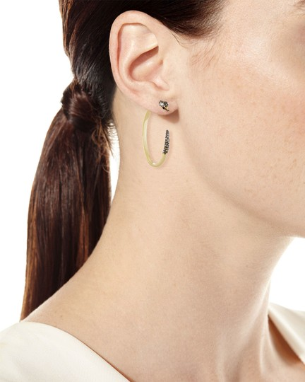Alexis Bittar BRAND NEW Alexis Bittar Two Part Snake Hoop Earrings Crystal Pave Image 7
