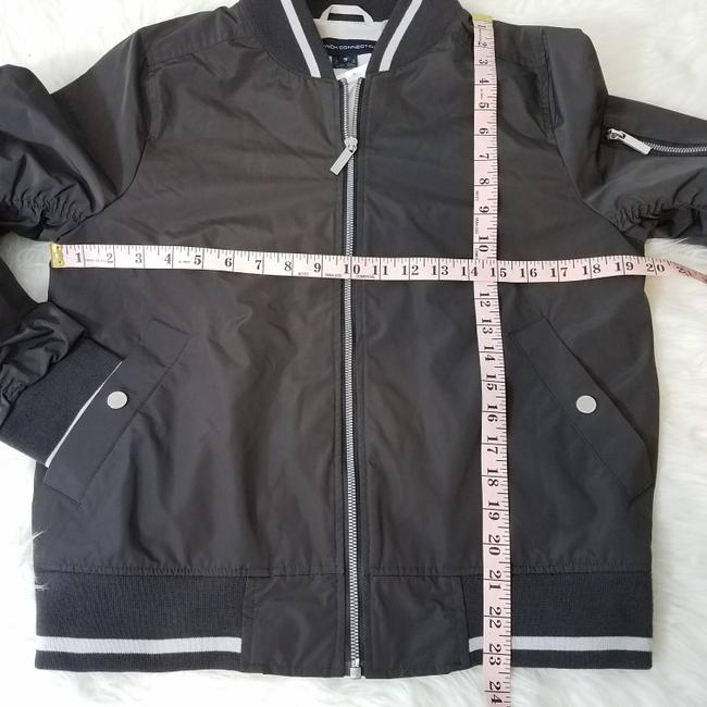 French Connection Ruched Varsity Full Zip Black Jacket Image 3