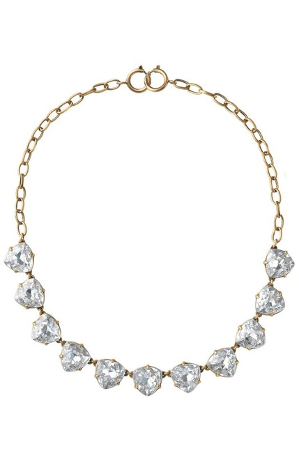 Stella & Dot Clear New Somervell Crystals Oxidized Brass Necklace Stella & Dot Clear New Somervell Crystals Oxidized Brass Necklace Image 1