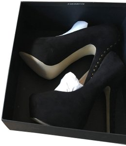 Shoemint Suede Black Pumps