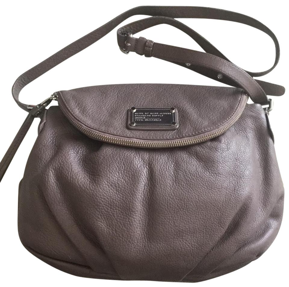7eff9d90e55 Marc by Marc Jacobs Workwear Hazelnut Taupe Leather Cross Body Bag ...