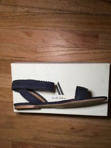 Ava & Aiden Suede Leather Navy blue Sandals