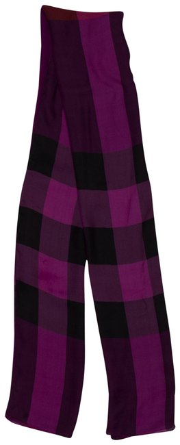 Item - Violet Red and Black Woven Check Shawl Scarf/Wrap