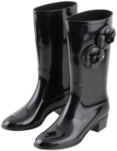 83b4d222f Chanel Rain Boots - Up to 70% off at Tradesy