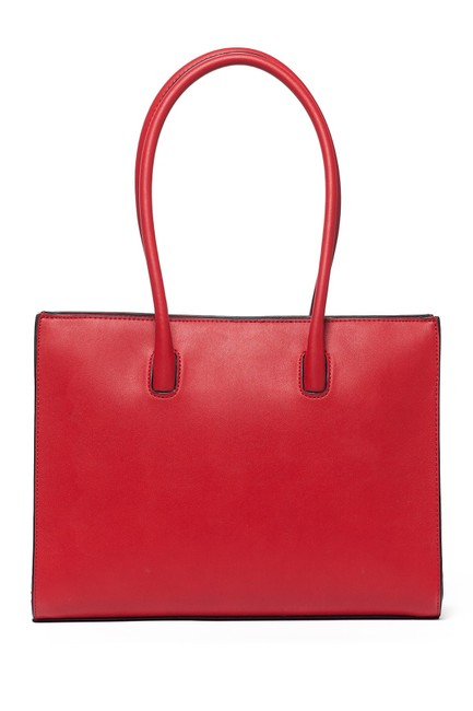 Love Moschino Embroidered and Embellished Tote Red Polyurethane Shoulder Bag Love Moschino Embroidered and Embellished Tote Red Polyurethane Shoulder Bag Image 7