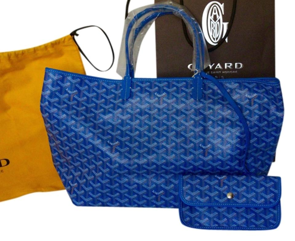 Goyard Leather Neiman Marcus New St Louis Tote In Blue
