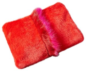 Anthropologie Red, Pink Clutch