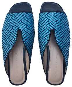 Assembly New York Beach Getaway Causal Vacation Electric Blue Sandals