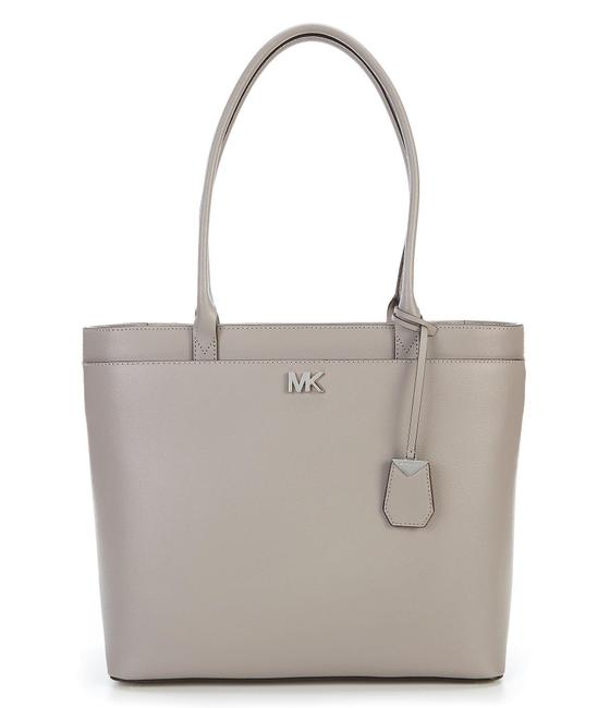 Item - Maddie Large Pocket Pearl Gray/Silver Leather Tote