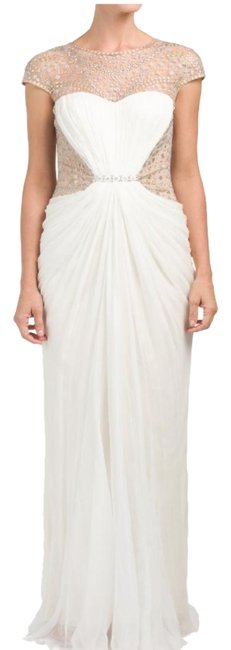 Item - Cream/Ivory Oc90326lz-cream Draped Silk Franklin Long Formal Dress Size 16 (XL, Plus 0x)